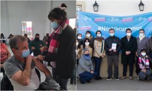 Vacunación Covid en Monte: El intendente Castro se aplicó la primera dosis