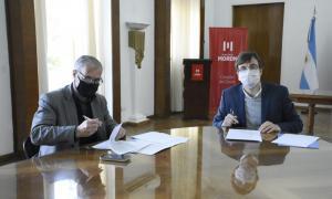 Lucas Ghi junto al Secretariode Niñez, Adolescencia y Familia de la Nación, Gabriel Lerner