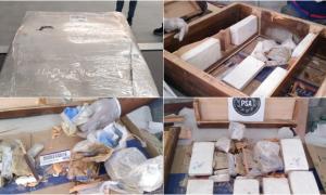 Ocho detenidos en operativo antinarco: Traían cocaína escondida en un mueble