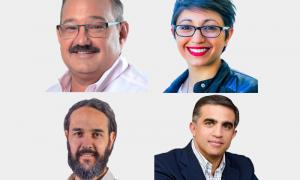 Los cuatro precandidatos beneficiados. Foto: InformateSalta.