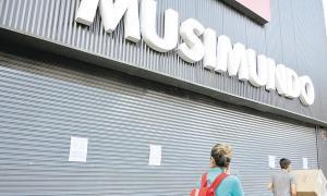 La empresa Musimundo cerró locales en 8 municipios de la Provincia.