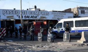 Desalojaron 45 puestos en La Salada. Foto: Prensa