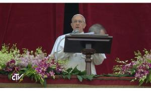 El Papa Francisco, durante su mensaje pascual, este domingo.