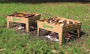 """""""Tu Punto"""", la primera parrilla portátil, descartable y biodegradable del mundo."""