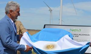 Inauguraron el Parque Eólico Villalonga en Patagones. Foto: Municipalidad.