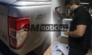 Atacaron la camioneta de Ezequiel Pazos. Foto: SMnoticias