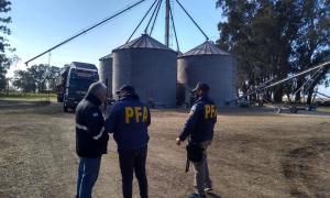 Saladillo: Policía Federal incautó más de un millón de kilogramos de granos de maíz