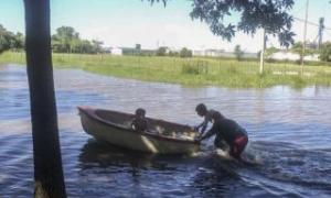 Piedritas, en General Villegas, una de las localidades más afectadas durante las últimas semanas. Foto: Télam.