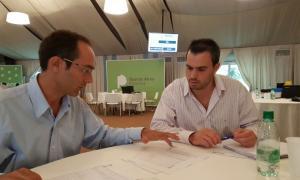 Pisano presentó proyectos en el Ministerio de Infraestructura.