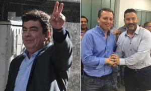 Espinoza y 'Tano' Menéndez, los contrincantes en la interna peronista.