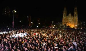 Plaza Moreno, epicentro de los festejos.