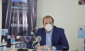 El presidente del Consorcio de Gestión del Puerto de Bahía Blanca, Federico Susbielles.