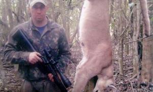 Ramiro Remorini subió a Facebook la imagen del puma que cazó