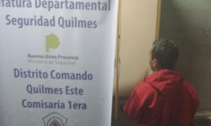 """Cayó """"Porotito"""" en Quilmes, un menor que golpeó y mató a una mujer de 64 para robarle"""