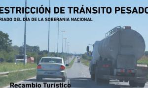 Día de la Soberanía Nacional: Restricción de camiones por el fin de semana largo en Provincia