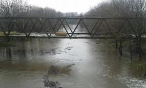 El nivel del río a la altura de Olivera. Foto: El Civismo