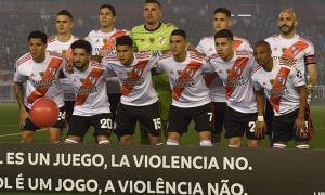 Los bonaerenses de River en la final de la Copa Libertadores frente a Flamengo