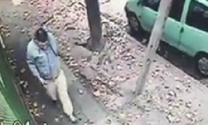 El robo quedó registrado por las cámaras de seguridad.