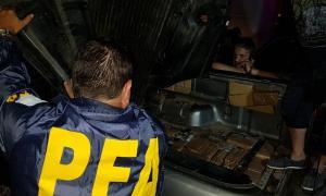 Detuvieron a tres narcos que intentaron fugarse con 160 kilos de marihuana en General Rodríguez