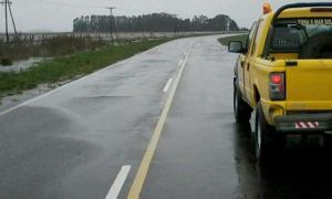 El estado de la Ruta 88 en una foto publicada por el Semanario El Planeta.