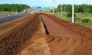 Un pasaje de las obras en el tramo Chacabuco-Junín de la Ruta 7. Foto: Info Rojas