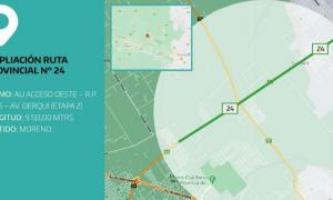 Provincia licitó la obra de ampliación de la Ruta Provincial 24 por más de $1.200 millones