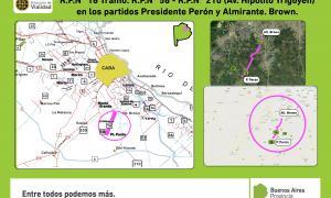 Vialidad licitó obras por más de 243 millones de pesos para Presidente Perón y Almirante Brown
