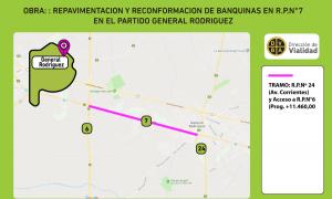 """""""Repavimentación y Reconformación de Banquinas"""" en Gral. Rodríguez"""