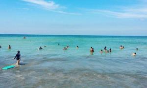 Una imagen de este martes en Santa Clara del Mar. Foto:LaCapital