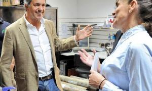 El exgobernador durante una de sus últimas recorridas en Florencio Varela.