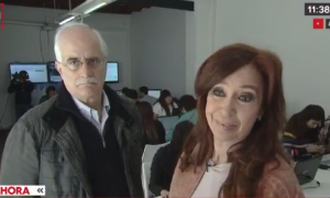 Cristina Kirchner junto a Jorge Taiana.