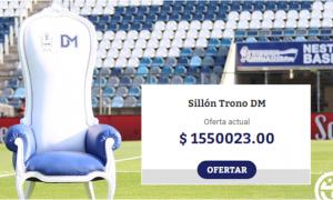 Subastan sillón de Gimnasia La Plata usado y firmado por Maradona y ya ofrecen una fortuna
