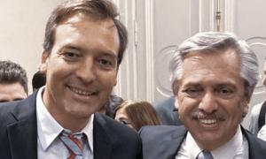 Martín Soria, nuevo ministro de Justicia de la Nación, junto a Alberto Fernández.