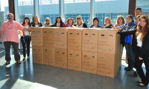 Tenaris donó 30 computadoras. Foto: Diario La Voz de Zárate.