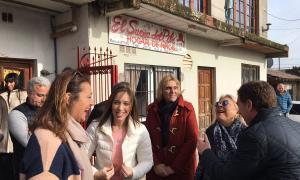 Vidal, Baragiola y Carrió en Batán. Foto @CCARIPrensa