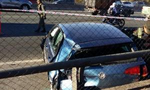 El auto que chocaron los ladrones