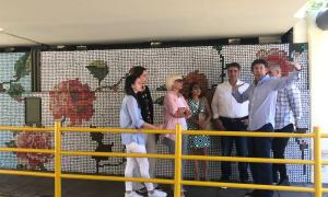 Jorge Macri y Gustavo Posse recorrieron intervención artística del túnel de la calle Paraná