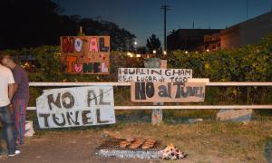 Vecinos se manifiestan contra los túneles de Hurlingham