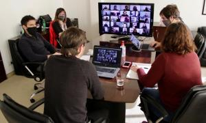 Fue una reunión virtual