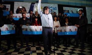 Máximo Kirchner encabezó el lanzamiento de la lista 2 en Quilmes.