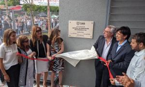 Tigre: Julio Zamora inauguró una escuela secundaria junto a la ministra Agustina Vila