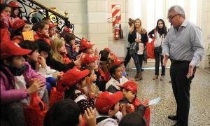 Alumnos del Delta visitaron los históricos edificios del distrito.