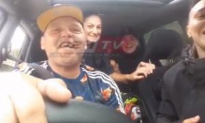 El Pepo cantó contra la Policía mientras manejaba.
