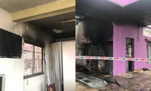 El local de Cambiemos amaneció incendiado.