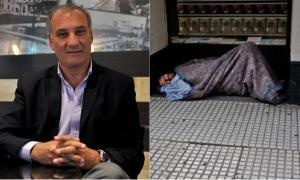 Gustavo Blanco comparó a indigente con un perrito.