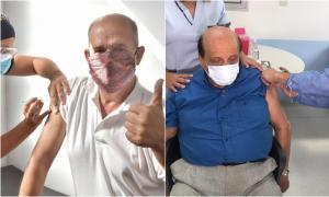 Intendentes de Pehuajó, de 64, y Berazategui, de 80, se aplicaron la dosis