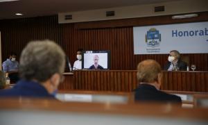 Apertura legislativa en Tres de Febrero: Valenzuela abrió el año desde su casa aislado por Covid-19