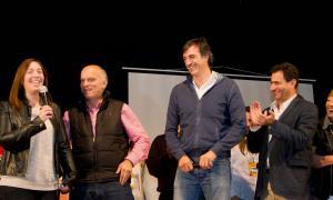 Vidal encabezó el acto en Lanús. Foto: APL