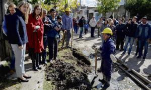 Vidal y la presidenta de la Autoridad de Cuenca Matanza- Riachuelo (ACUMAR), Gladys González