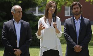 María Eugenia Vidal cuando anunció su gabinete. Foto: Prensa Vidal.